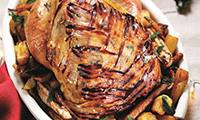 Christmas Roast Turkey Recipe with Oranges and Pomegranate
