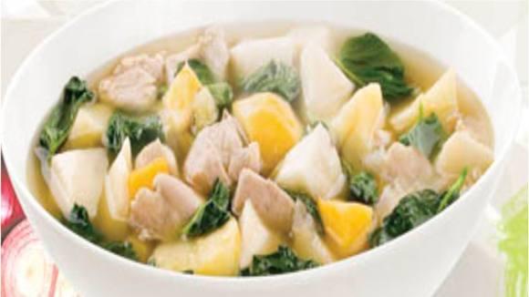 Sweet Kamote and Kangkong Souprise Recipe