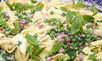 Easy Pancetta Pasta with Peas Recipe