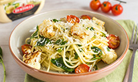 Becca's Buttery Spinach and Roasted Cauliflower Spaghetti