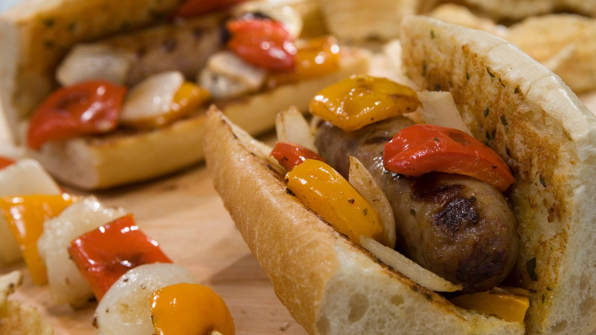 Pit Road Sausage & Peppers Subs