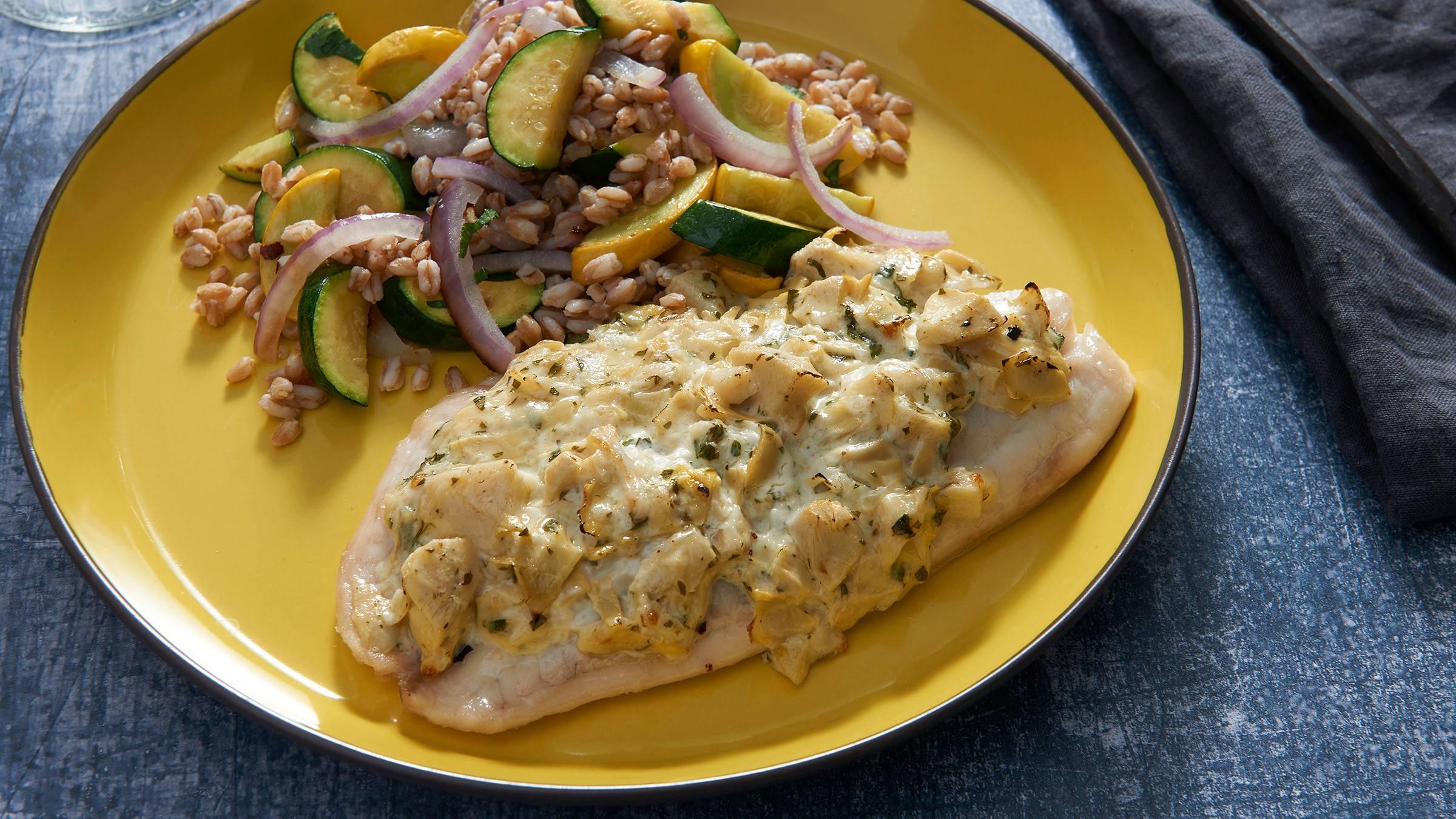 Artichoke-Crusted Tilapia Fillets Recipe