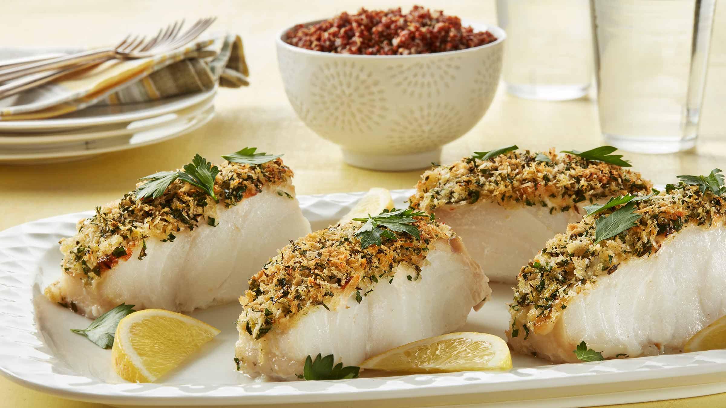 Lemon Crusted Cod