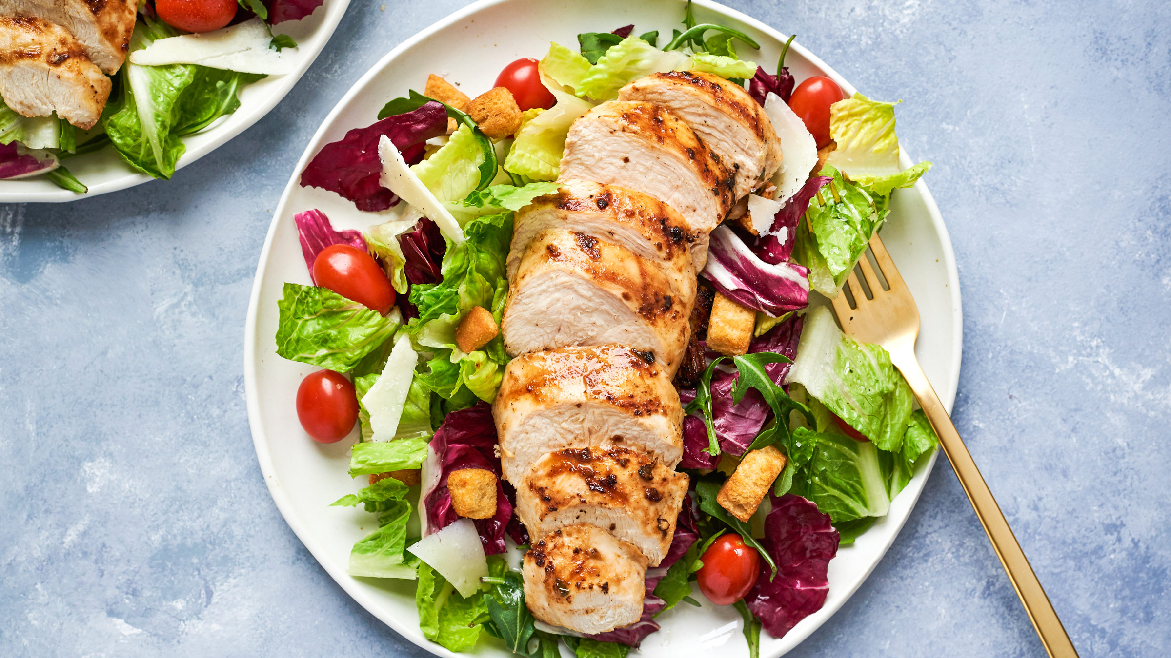 Succulent Grilled Italian Chicken over Greens