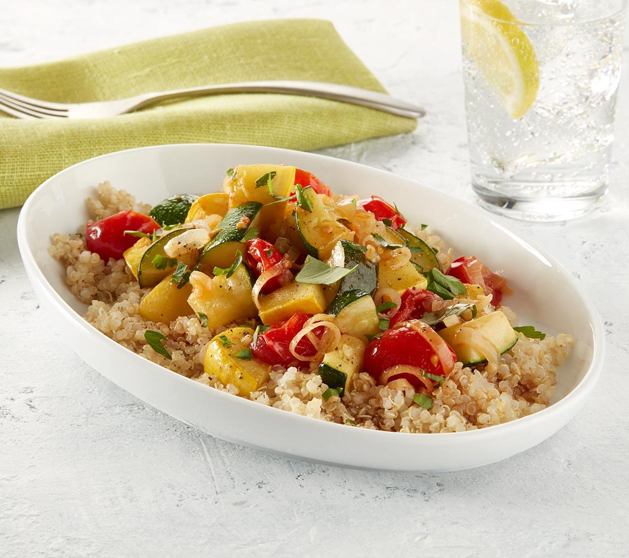 Ratatouille végétalienne au quinoa