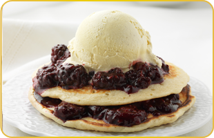 Pancakes aux mûres et vanille