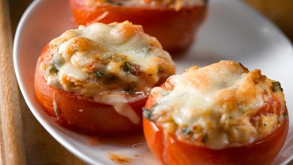Baked Tomatoes Alfredo