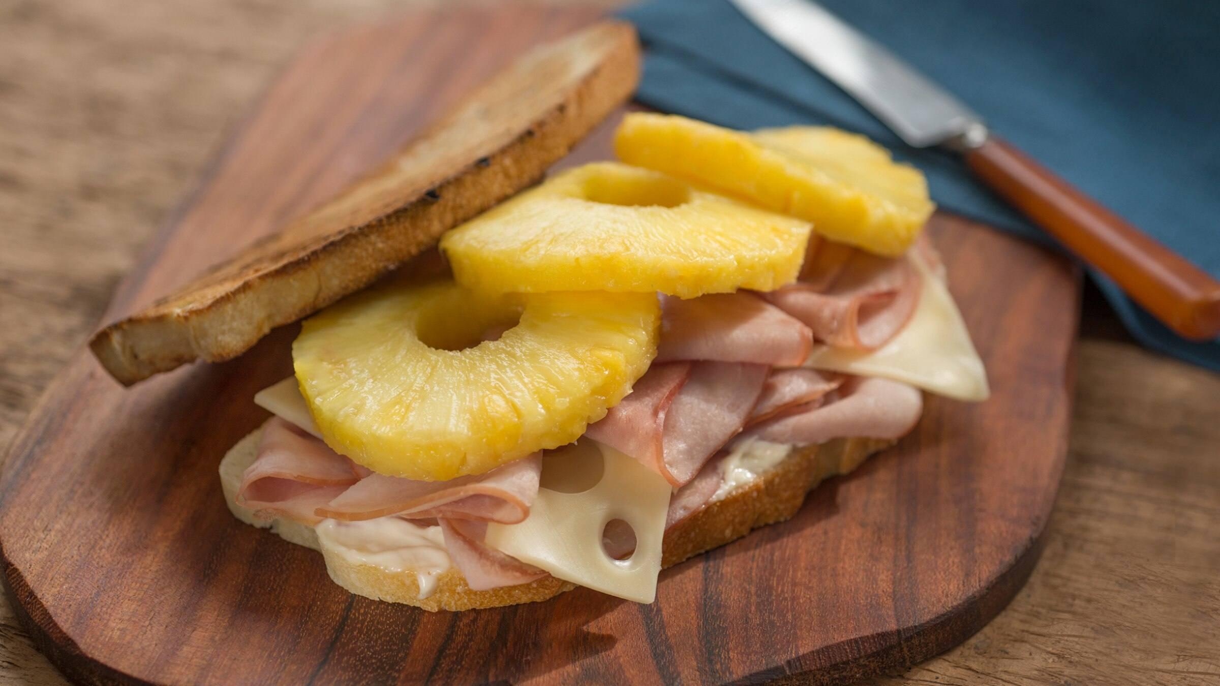 Aloha Ham & Cheese Strangewich Recipe