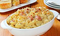 Macaroni Cheese with Prosciutto and Leeks