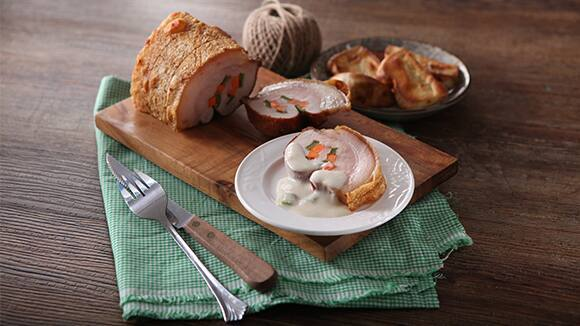 Stuffed Pork Belly with Gata Recipe