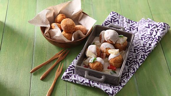 Creamy Gata Pineapple Chicken Balls Recipe