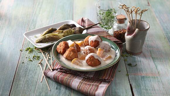 Pork Meatballs with Squash in Gata Sauce Recipe