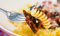 Easy Italian Fusilli with Roasted Aubergines in Tomato Sauce Recipe