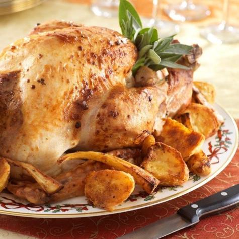 Orange and Smoky Bacon Roast Turkey