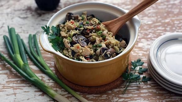 Creamy Chicken & Mushroom Rice