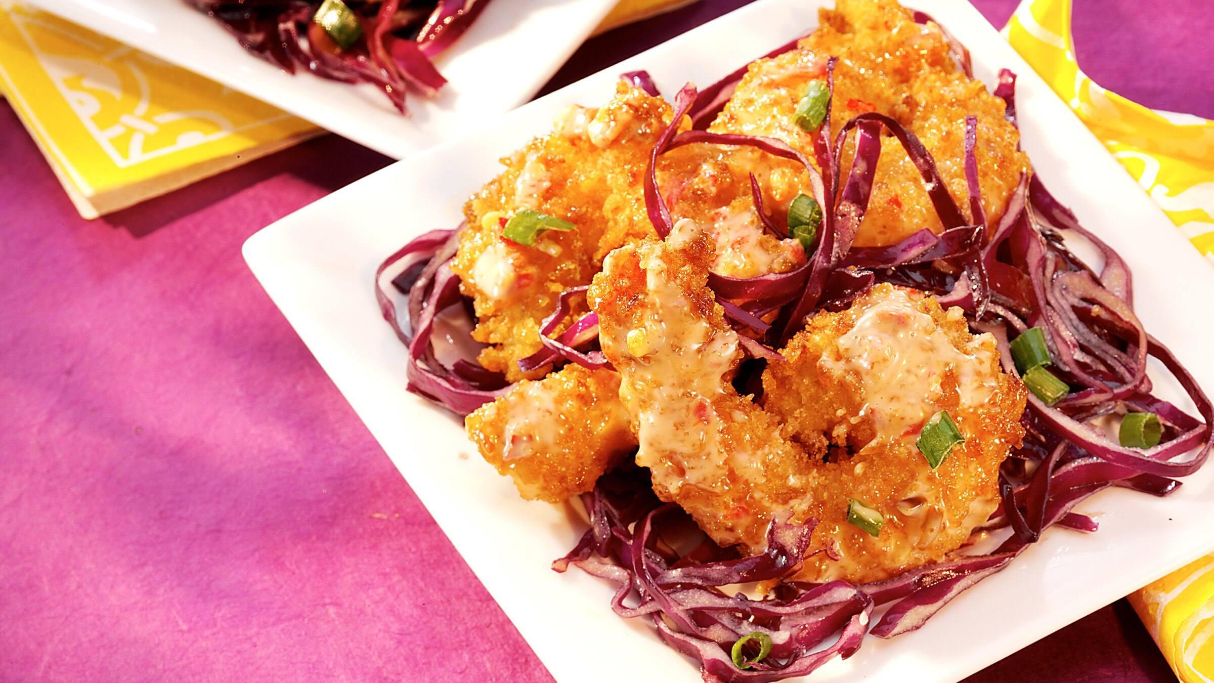 Bangin' Shrimp with Asian Slaw Recipe