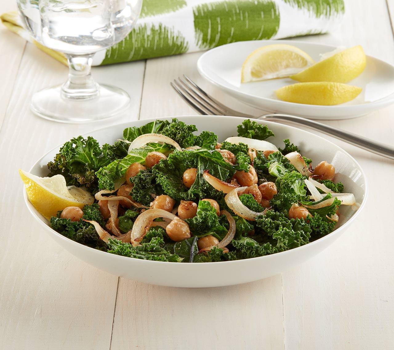 Vegan Kale and Chickpea Saute