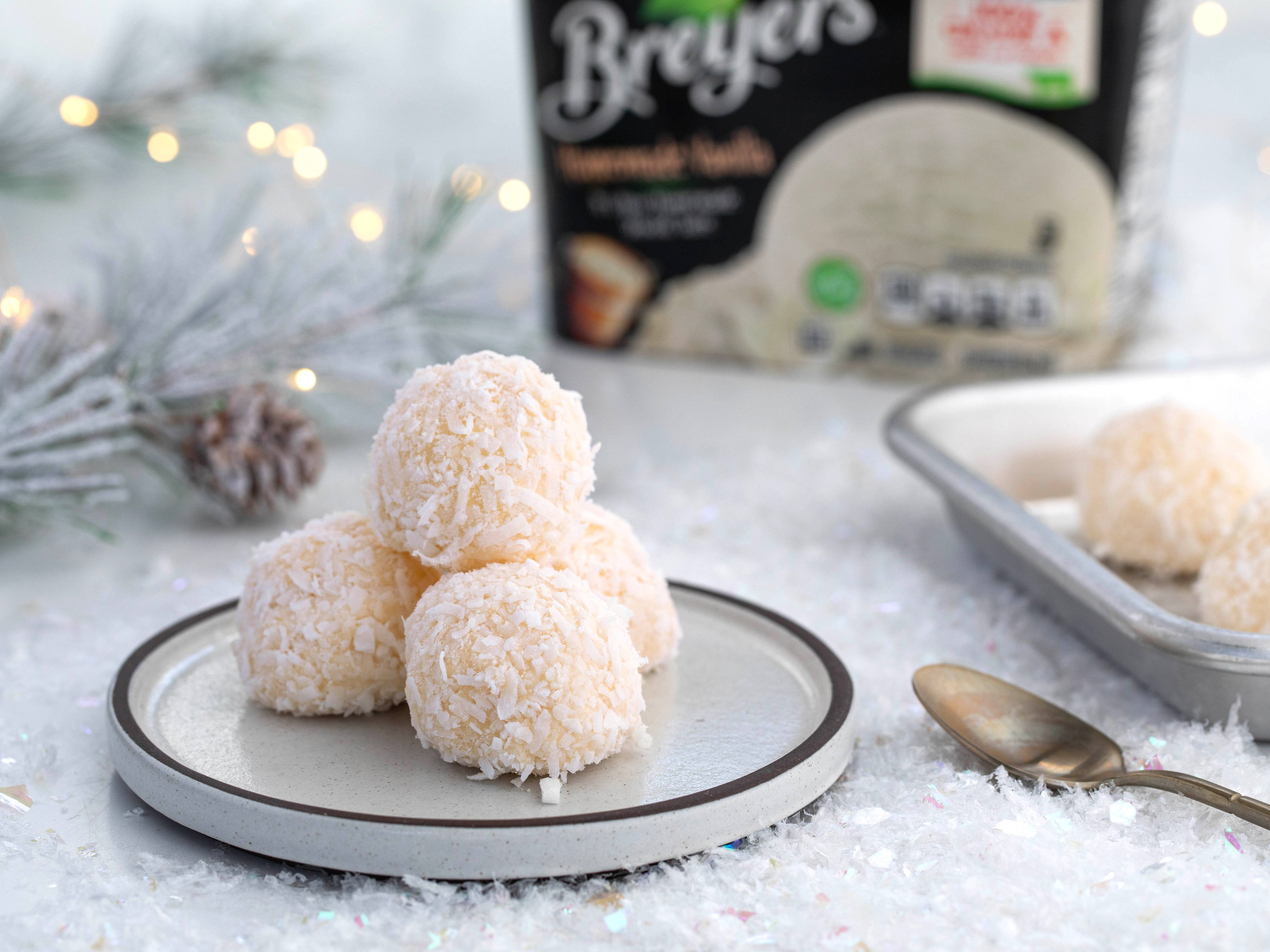 Coconut Ice Cream Snowballs Recipe