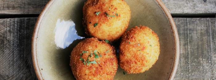 Crumbs' Parsley Pesto Aranchini Balls
