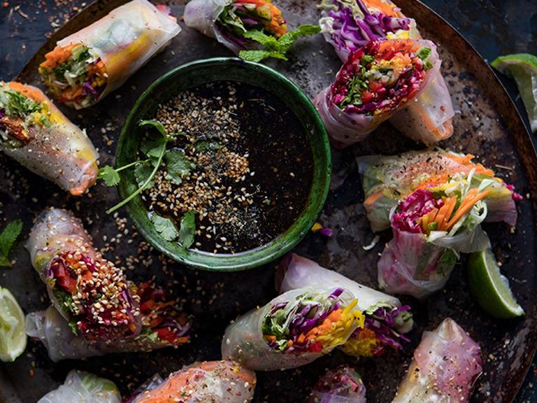 Crunchy Vegetable Rice Paper Rolls