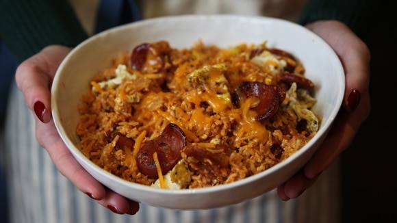 Chorizo and Egg Rice Bowl