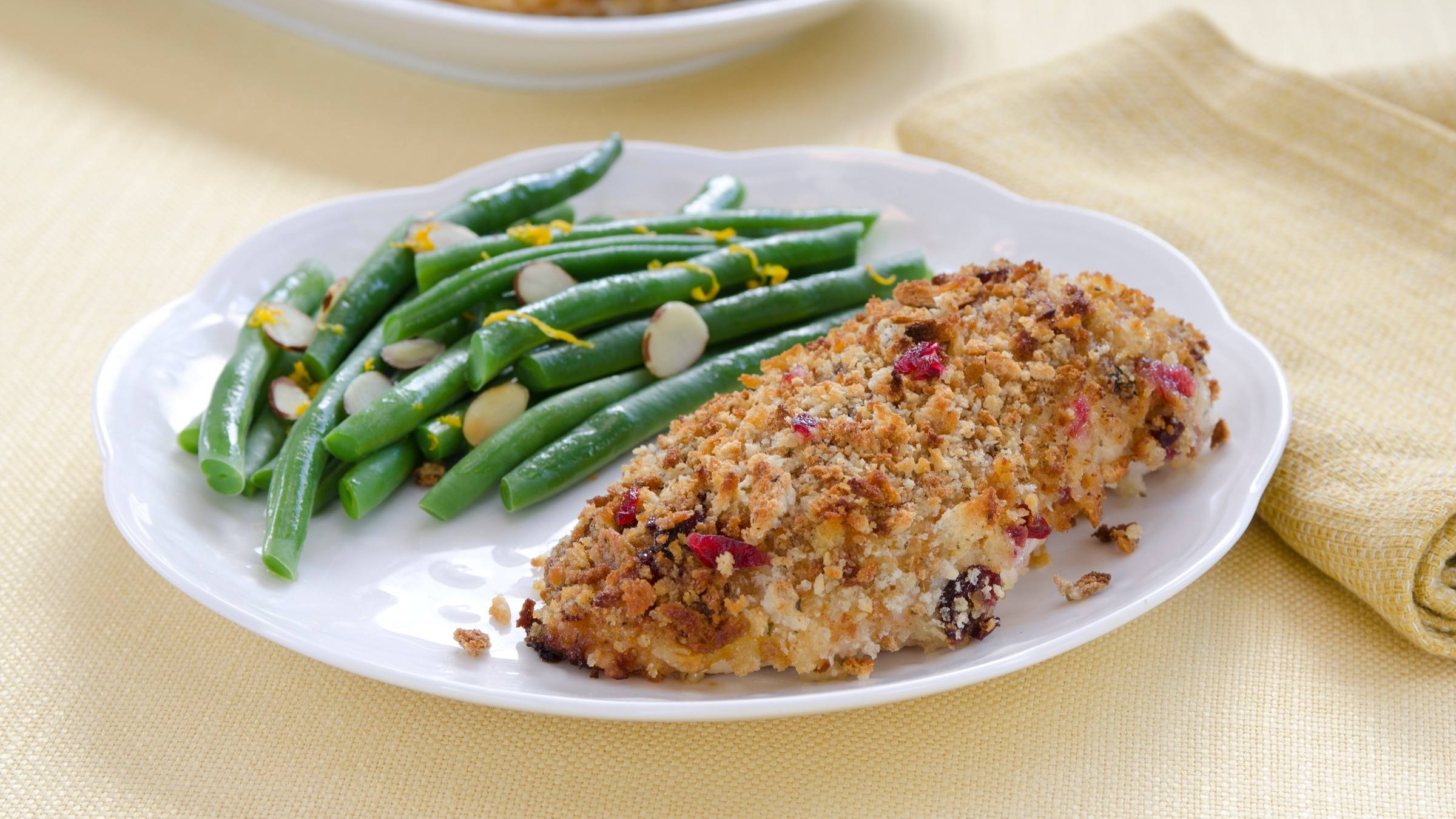 Baked Cranberry-Orange-Stuffing-Crusted Chicken Recipe