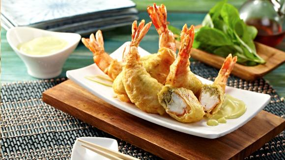 Stuffed Tempura with Wasabi Mayo Dip Recipe