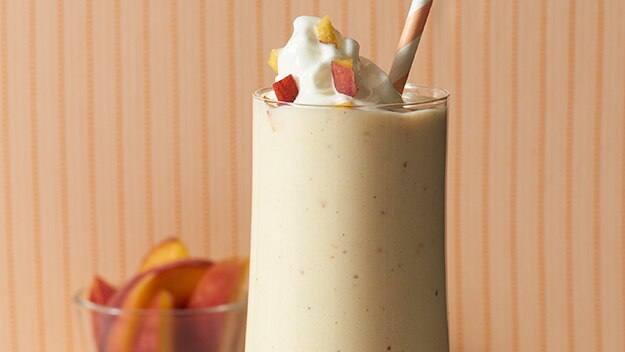 Frosty Peaches 'N Cream Milkshakes