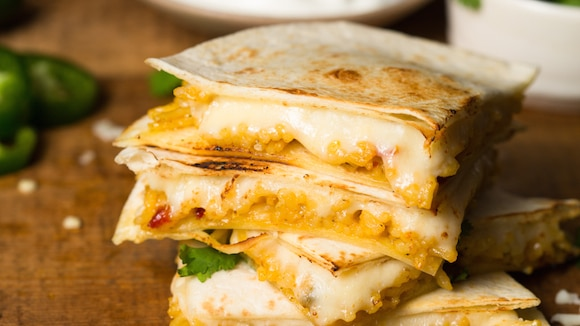 Image result for Cheesy Greens Quesadilla