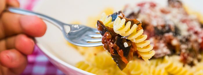 Easy Italian Fusilli with Roasted Aubergines in Tomato Sauce Recipe