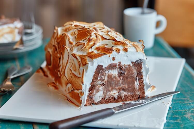Receptafbeelding voor Chocoladecake met 3 chocolade ijs