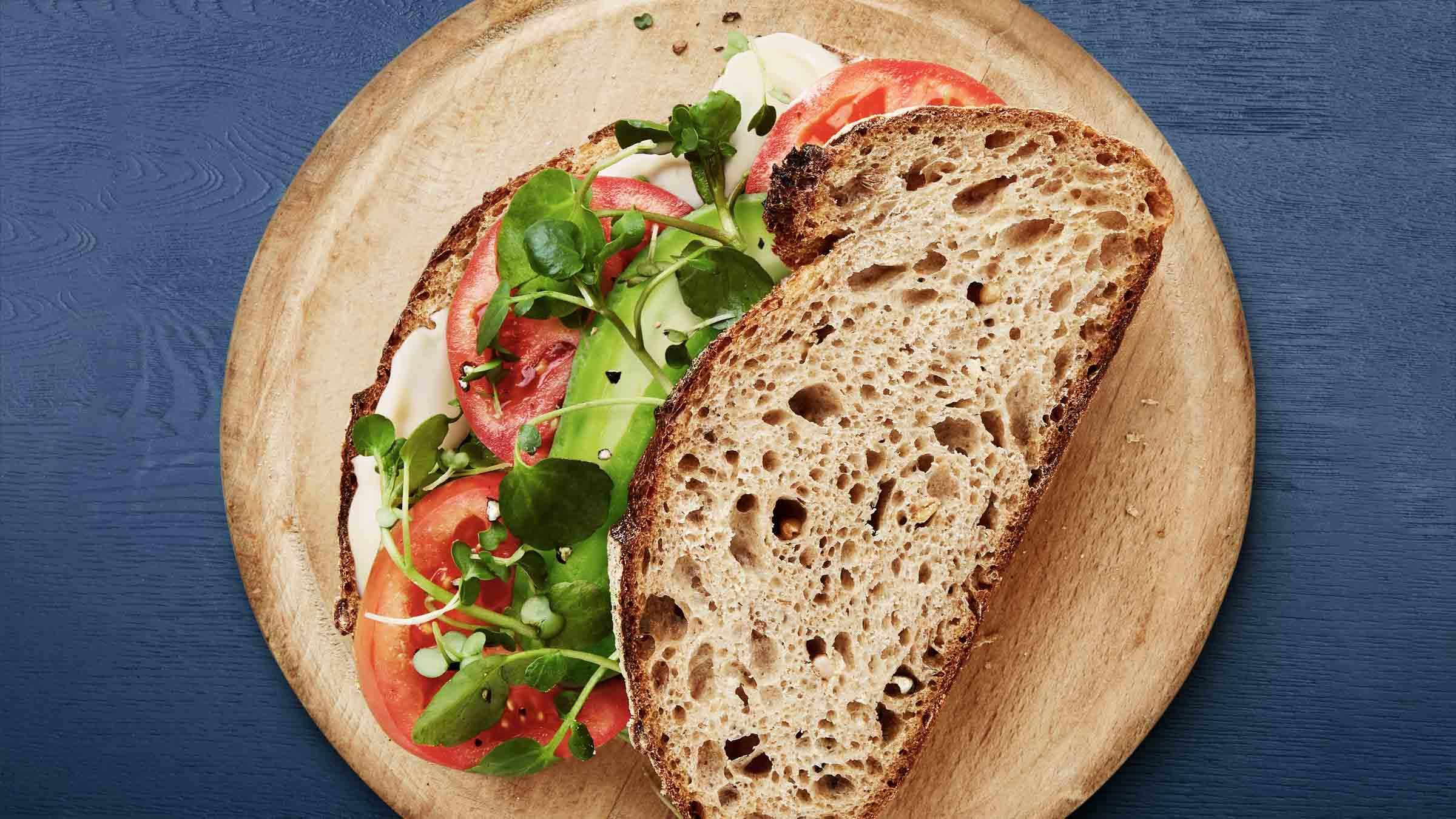 Avocado, Tomato, & Watercress Sandwich Recipe