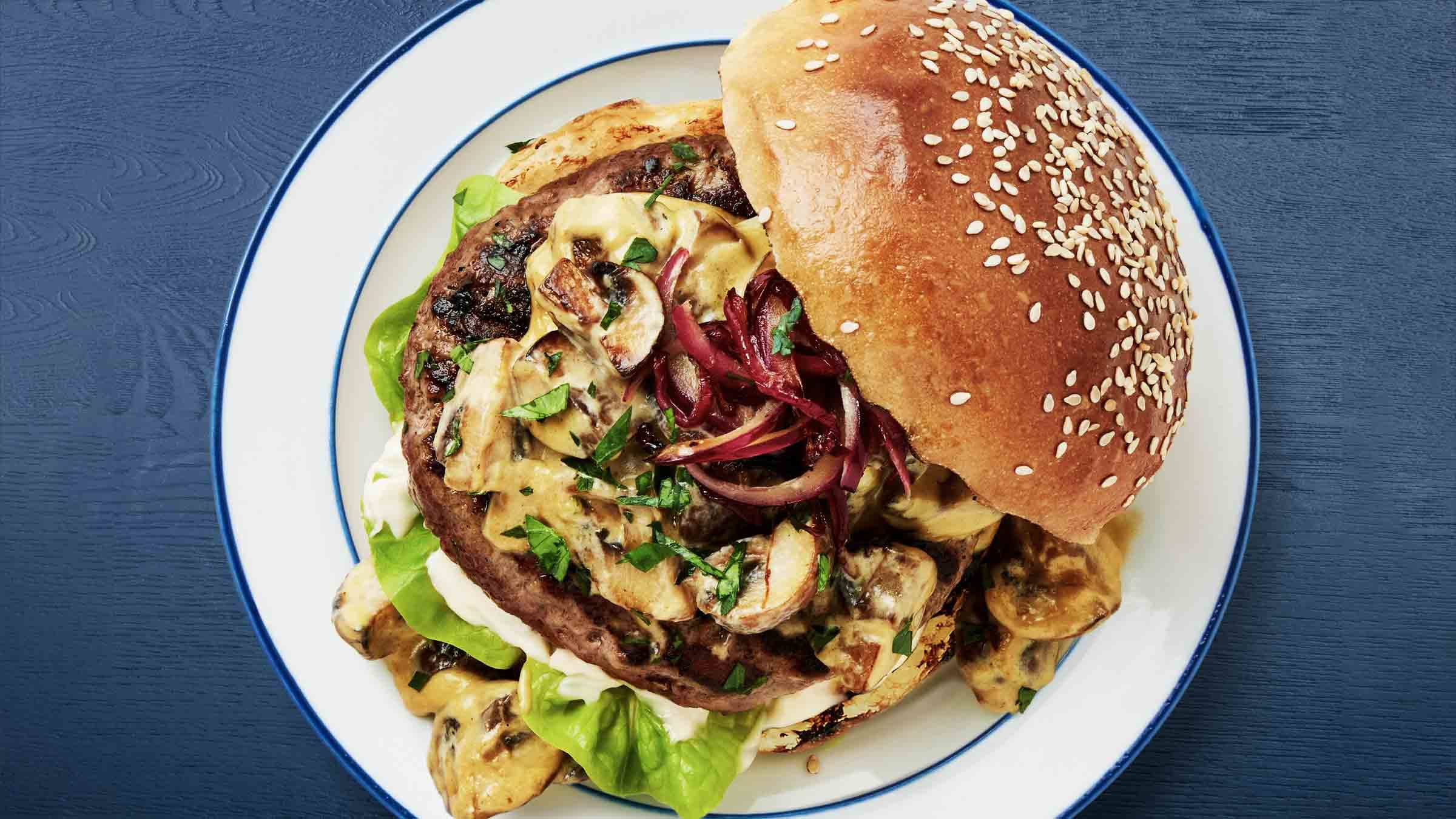 Creamy Mushroom Burger Recipe