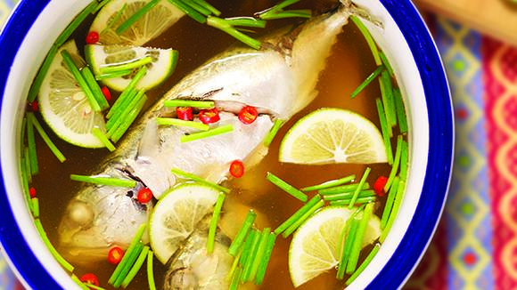 Easy Steamed Fish with Chilies and Lime Recipe
