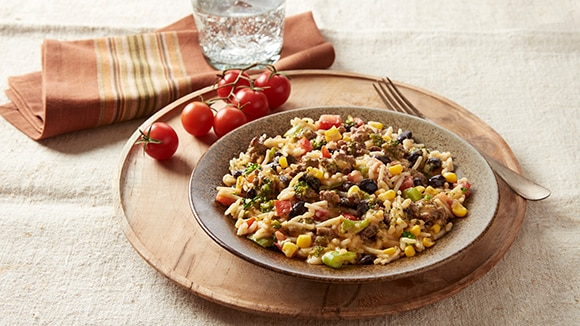 Beefy Black Beans & Rice