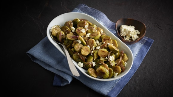 Balsamic Feta Brussels Sprouts
