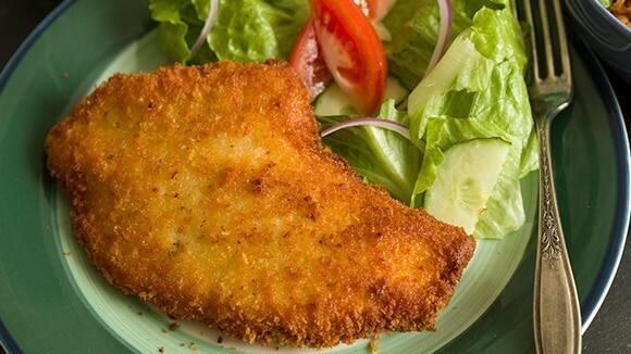 milanesa de pollo tabla nutricional