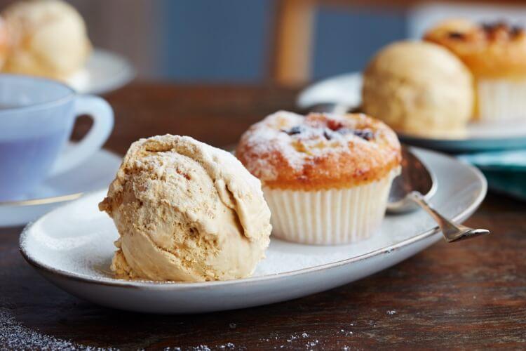 Receptafbeelding voor Appeltaart ijs met appeltaart cupcakes