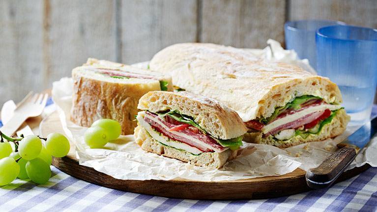 Chicken Ham & Cheese Picnic Sandwich