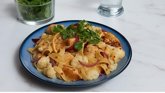 Lemon Chicken & Cauliflower Pasta