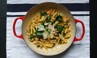 The Chiappas' Chicken, Pancetta & Spinach Penne