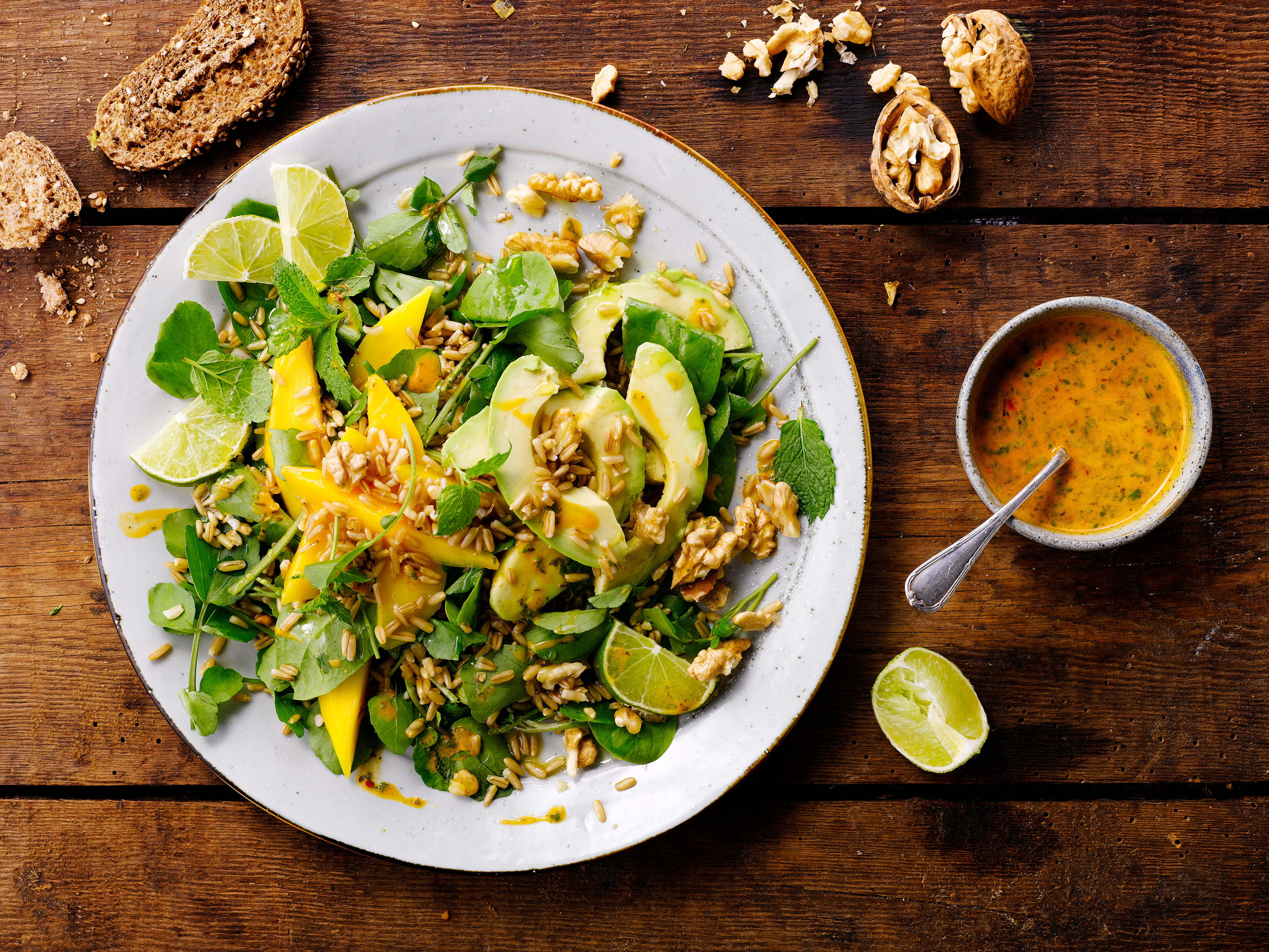 Brunnenkresse Salat