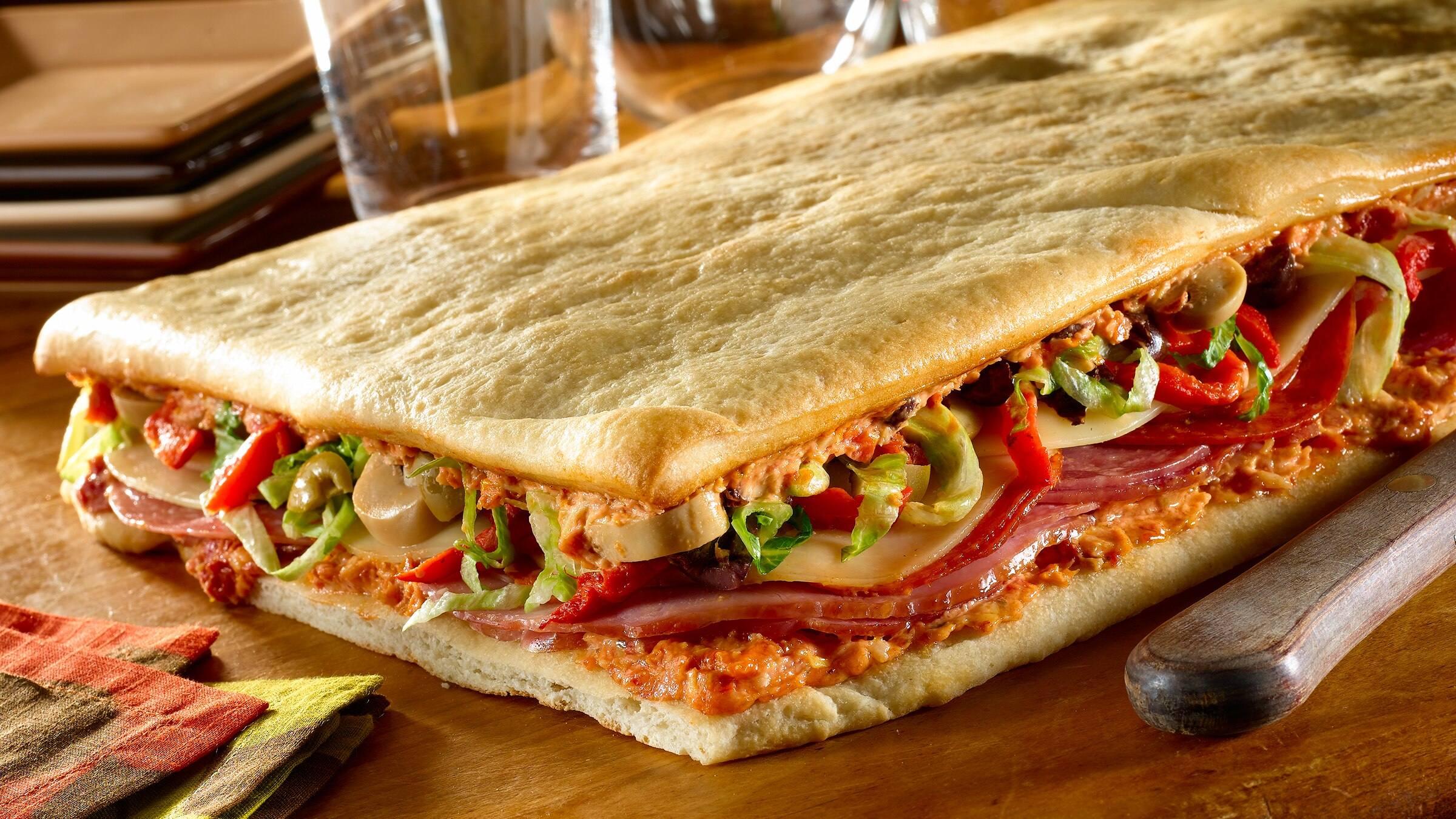 Easy Antipasto Pizza Sandwich Recipe