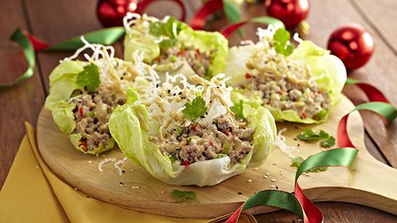 Asian Lettuce Cups with Crispy Noodles Recipe