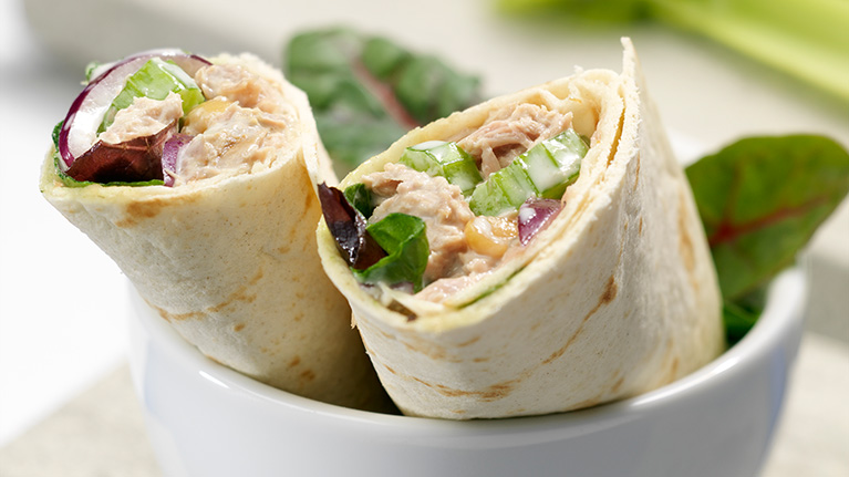 Tuna, Celery and Mayo Wrap