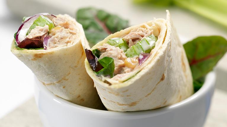 Tuna, Celery and Mayo Wrap