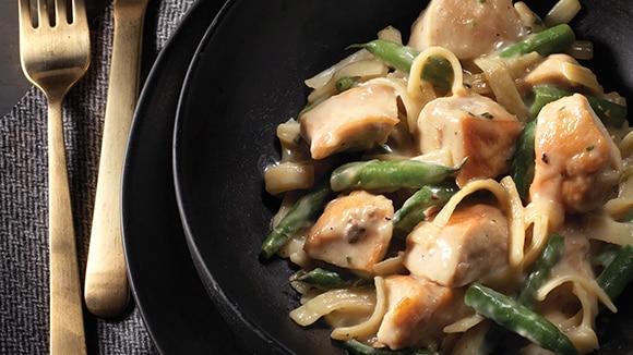 Creamy Chicken Mushroom Stroganoff