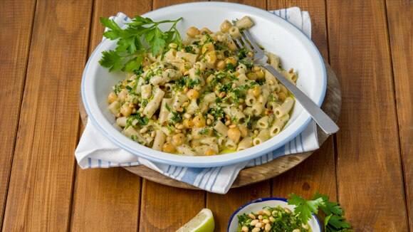 Lemon, Pine Nut & Garbanzo Bean Pasta