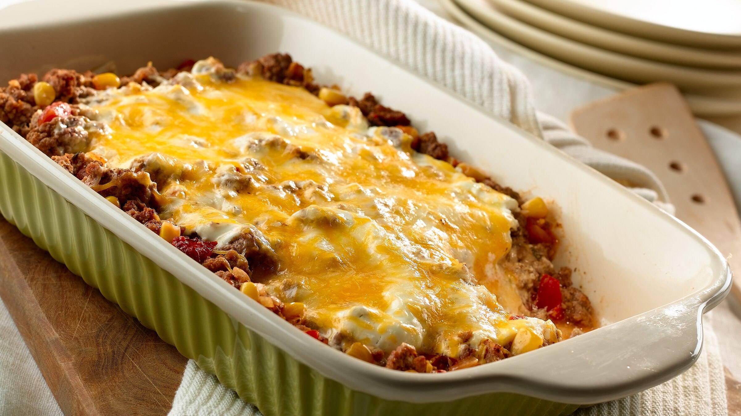 Four Cheese Enchilada Casserole Recipe