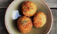 Crumbs' Parsley Pesto Aranchini Balls